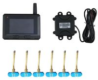 TPI50 Built In Big LCD Screen Truck Bus TPMS Tire Pressure Monitoring System With 6 22