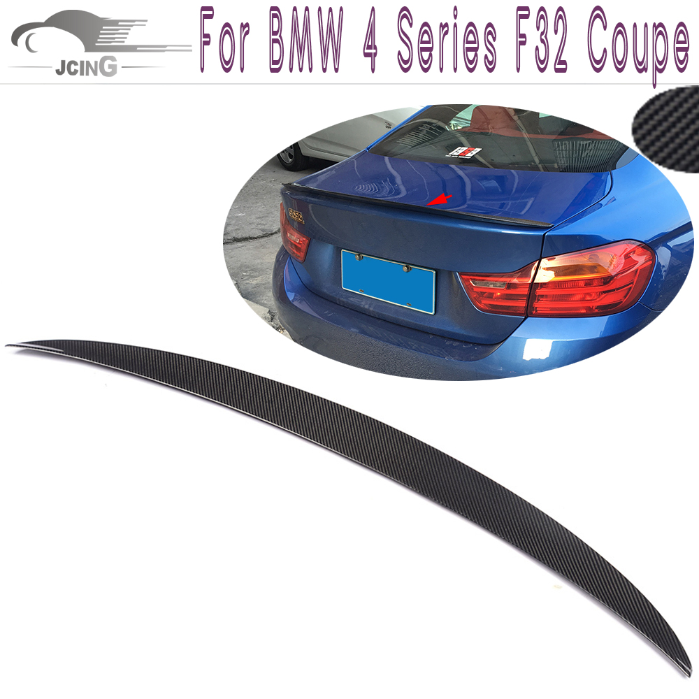 Carbon Fiber Rear Spoiler for BMW 4 Series F32 428i 435i Coupe Standard Bumper 2014 2015 2016 Tail Trunk Lid Lip Wing Spoiler p style for bmw f32 spoiler carbon fiber material 4 series coupe f32 carbon spoiler 2 door carbon wings 2014 2015 2016 up