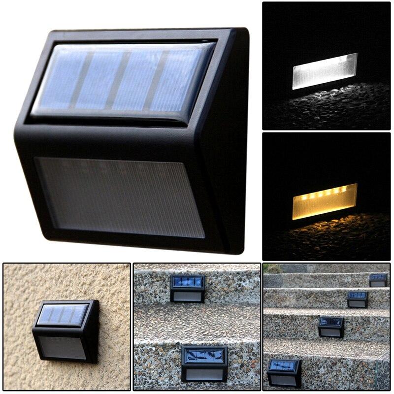 6LED Солнечный свет открытый Мощность оптически контролируется настенный светильник Водонепроницаемый стены сада Путь Освещение энергосбережения Лампы на солнечных батареях