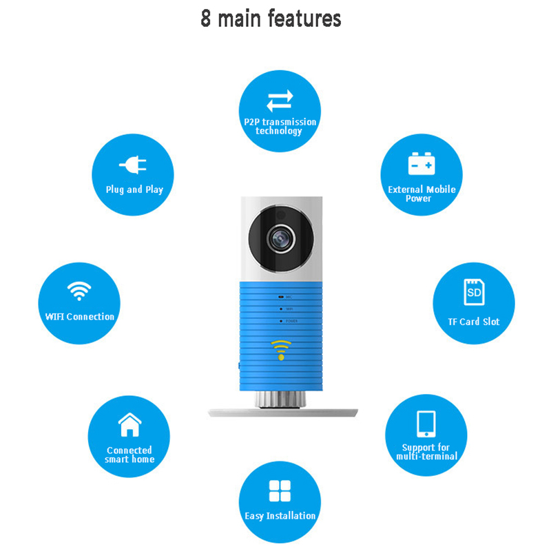 CLEVE DOG Smart IP Camera Home HD Monitor Mobile WIFI Wireless Remote Home Watch Night Vision Edition Wifi 720p FC image