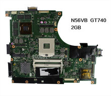for ASUS N56VB Laptop Motherboard N56VM Rev2.3 mainboard GT740 2G N14P-GE-OP-A2 989 Scoket fully tested