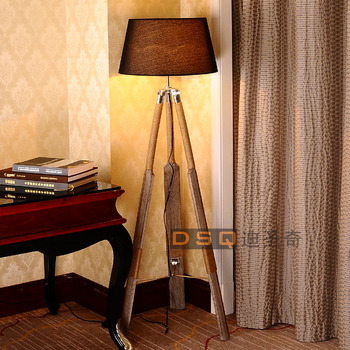 DSQ ، الدول الاسكندنافية نمط خشبية مصباح أرضي قارب مصباح أرضي