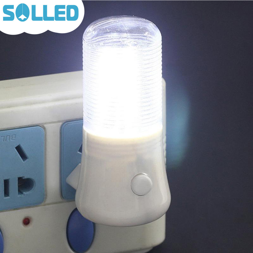 SOLLED 3W Manual On Off Switch LED Night Light Plug in AC220V Wall Soft White Energy Saving Simple Style Bathrooms Bedrooms ...