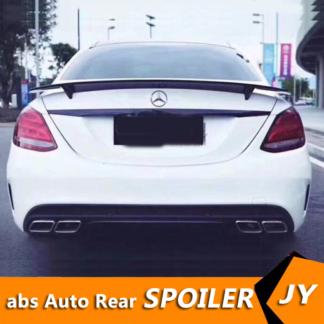 For Mercedes Benz <font><b>W205</b></font> <font><b>Spoiler</b></font> 2016-18 C180/C200/C230 C-class <font><b>spoiler</b></font> High Quality Carbon Fiber Car Rear Wing Color Rear <font><b>Spoiler</b></font> image