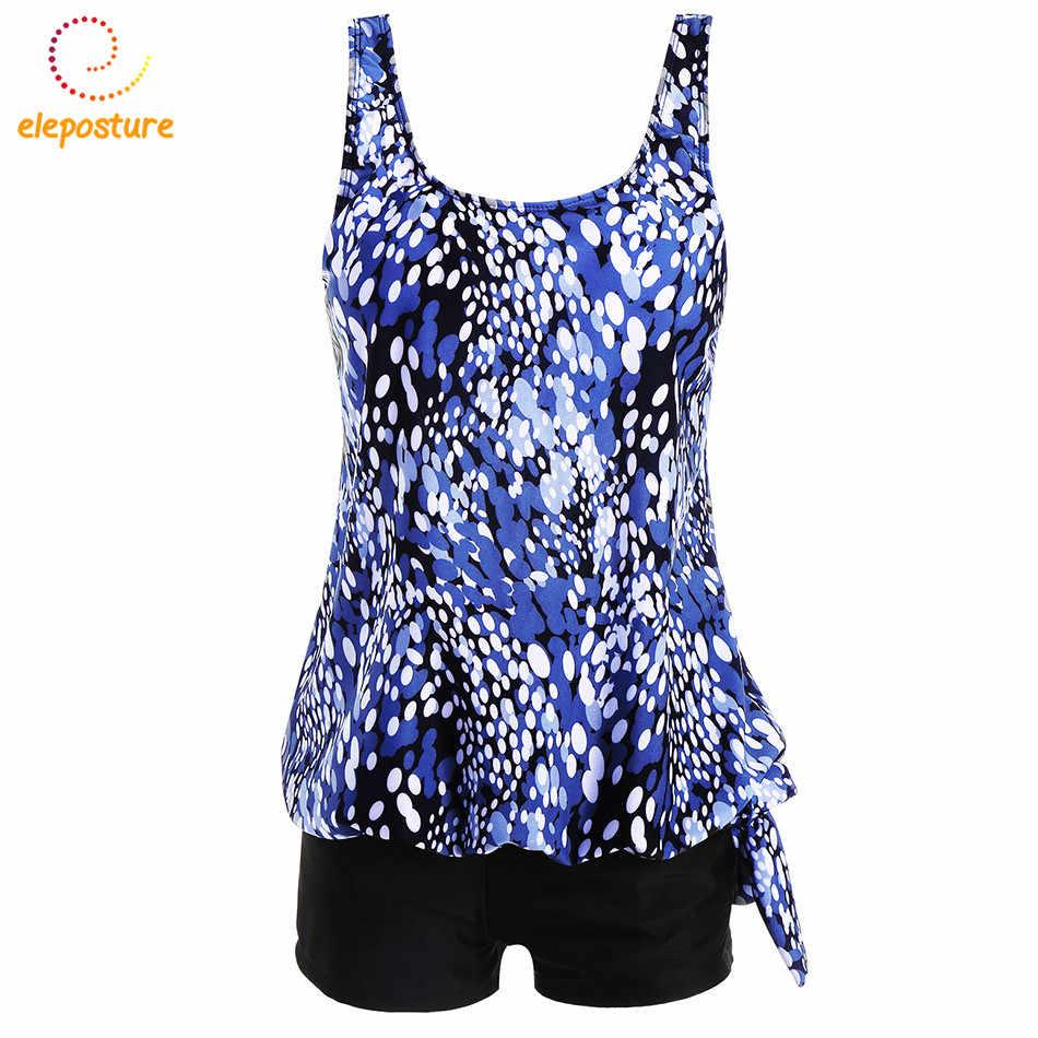 2019 Tankini Baju Renang Wanita Plus Ukuran Baju Renang Berpinggang Tinggi Pakaian Renang Pakaian Renang Vintage Retro Baju Renang Maillot De Bain