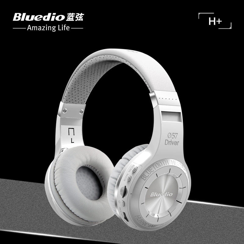 Bluedio H+  Bluetooth Stereo Wireless Headphone Built-in Mic Support SD Card FM Radio BT4.1Over-ear Headband Earphone Headset smilyou multifunction wireless bluetooth 4 1 stereo headphone sd card
