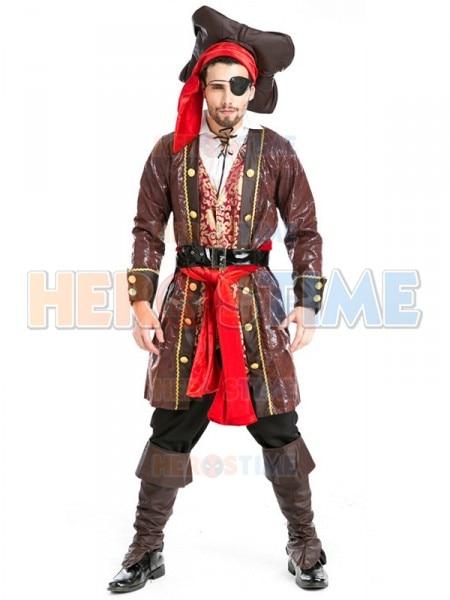 все цены на Deluxe Pirates of the Caribbean Jack Sparrow Costume Cosplay Set