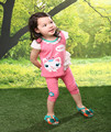 2016 New Girls Clothing Sets Baby Kids Clothes Suit Children Short Sleeve T-Shirt +Pants Baby Girls Clothing