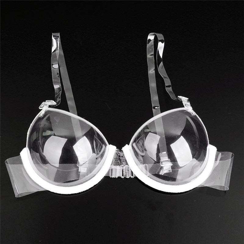 Women 3/4 Cup Transparent Clear Push Up Bra Ultra-thin Strap Invisible Bras Underwear