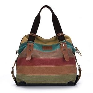Image 1 - Canvas Women Messenger Bags High Quality Womens Shoulder Bags Handbags Female Famous Brands Crossbody Bag Bolsos Mujer