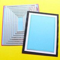 Сюрприз создание режущие штампы 8 шт двойной прошитый прямоугольник записная книжка DIY трафарет