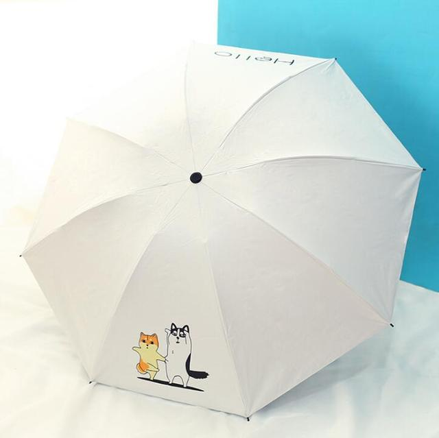 Techome новый рисунок собаки Солнечный зонтик трехскладной зонтик женский зонтик от солнца развивающая музыкальная игрушка зонтик