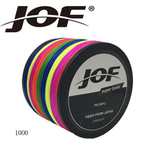 JOF Multicolor TOP Quality 1000m 4LB – 150LB Braided Fishing Line PE Strong Multifilament Fishing Line Carp Fishing Saltwater