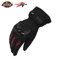Pro-motociclista inverno dedo cheio luvas da motocicleta moto gants luvas à prova dwindproof água à prova de vento luvas de esqui da motocicleta