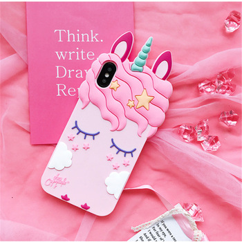 Pink Unicorn Soft Silicone Case