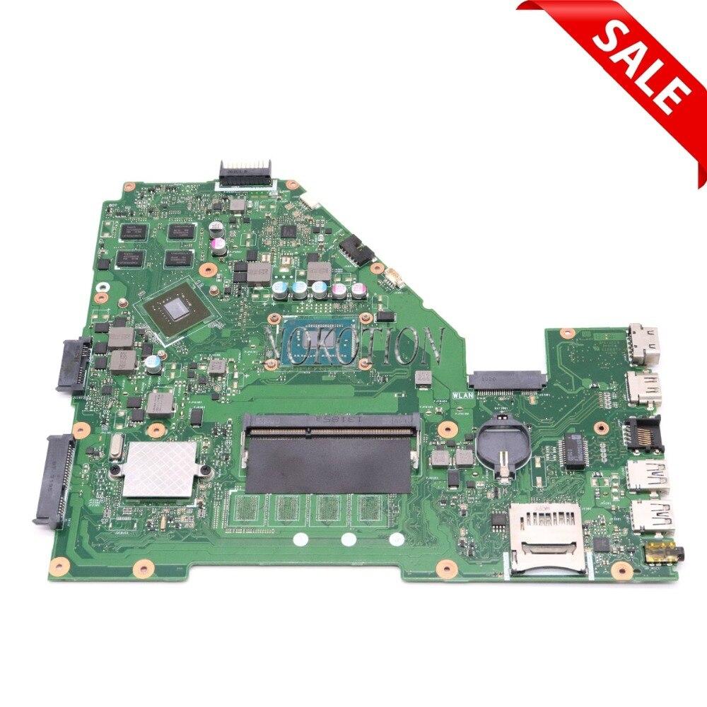 NOKOTION Laptop Motherboard for ASUS X550CC 60NB00W0 69N0PHM1JA02 GT720M SR109 Celeron 1007U Main board for x550cc r510cc ddr3 gt720m 4gb i3 2377u hm76 rev2 0 pn 60nb00wa laptop motherboard system board main board mainboard card