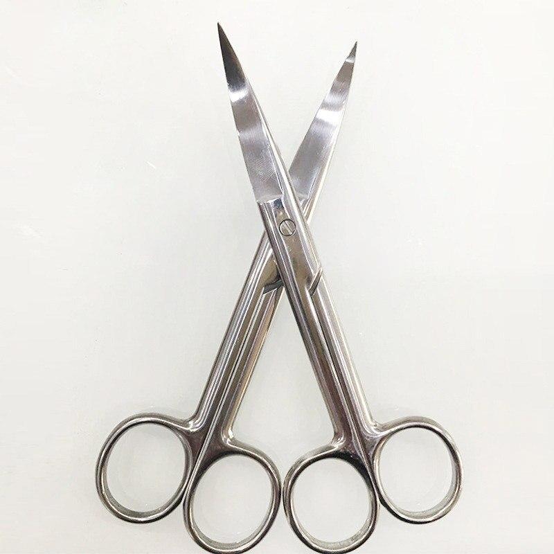 Profesyonel paslanmaz çelik saç makas kesme salonu makas berber inceltme makasları kuaförlük cerrahi Bend ucu ev