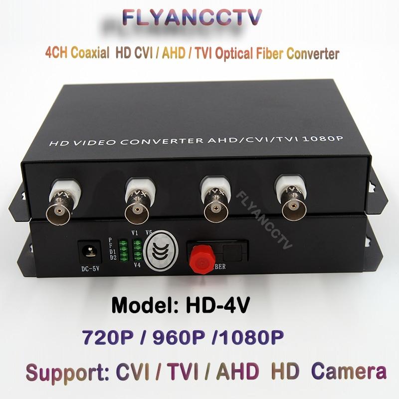 4 Channel 1080p HD CVI AHD TVI Video Fiber optical Media Converter - For 1080p 720p HD AHD CVI TVI Coaxial Cable Camera CCTV voxlink ahd tvi cvi video converter full hd 1080p tvi cvi ahd signal to cvbs vga hdmi hd video converter for cctv cameras