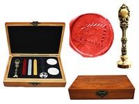 Vintage Cool Wolf Custom Luxury Wax Seal Sealing Stamp Brass Peacock Metal Handle Sticks Melting Spoon