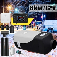 12 В 8000 Вт ЖК дисплей монитор Air дизелей подогреватель топлива одно отверстие 8KW для лодки автобус автомобиль обогреватель с дистанционным уп