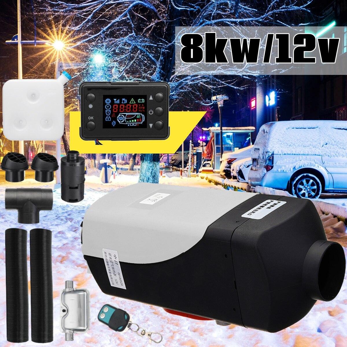 12 В 8000 Вт ЖК-монитор Air ELS топливный нагреватель с одним отверстием 8кВт для лодки автобус автомобильный нагреватель с пультом дистанционног...