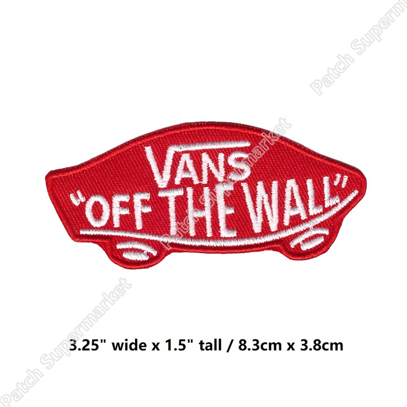 Embroidered Patch Iron Sew Logo VANS off the wall skateboard santa cruz