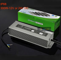 AC110V/ 220V LED Transformer 12V 25A/24V 12.5A 300W LED Power Supply,Waterproof IP65 Adapter For LED Strip
