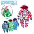 Новый 2016 осень зима комбинезоны для детей одежда детские толстый хлопчатобумажный комбинезон новорожденных девочек комбинезон baby boy одежда