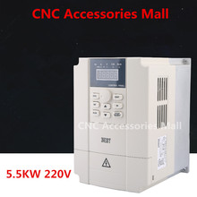 5.5kw 220V BEST Frequency Inverter VFD Variable Frequency Drive for spindle motor 220v 0 75kw pwm control variable frequency drive vfd 3ph input 3ph frequency drive inverter