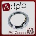 Pixco emf af confirmar adapter terno para câmera pentax pk para canon 7d/550d/1100d/450d/50d/40d (não-af)