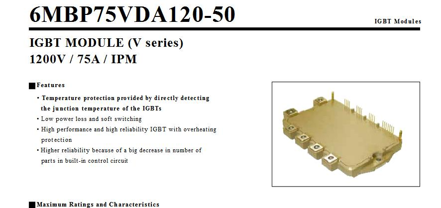 Free shipping NEW  6MBP75VDA120-50   MODULE