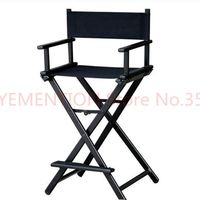 Aluminum Frame Makeup Artist Director Chair Foldable Outdoor Furniture Lightweight Portable Folding Director Makeup Chair 5pcs