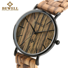BEWELL Top Luxury Brand Men Wood Watches Waterproof Clock As Male Gift For Dad Or Boyfriend Dress Style Watch Good Quality 163A