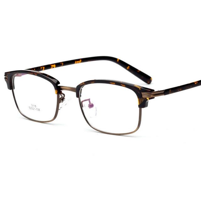 TR90 Marcos de Anteojos de Metal Medio marco Súper Ligero de Alta Calidad mujeres Gafas Hombres Marco miopía gafas Enmarcan gafas de grau