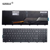 GZEELE For Dell Inspiron 15 5000 Series 15 5551 5552 5555 5558 5559 7559 keyboard US layout black color with backlit keyboard|keyboard for dell|dell inspiron 15|inspiron 15 -