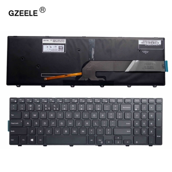 цена на GZEELE For Dell Inspiron 15 5000 Series 15 5551 5552 5555 5558 5559 7559 keyboard US layout black color with backlit keyboard