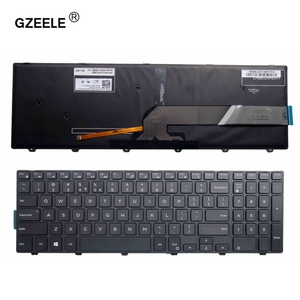 GZEELE For Dell Inspiron 15 5000 Series 15 5551 5552 5555 5558 5559 7559 keyboard US layout black color with backlit keyboard(China)