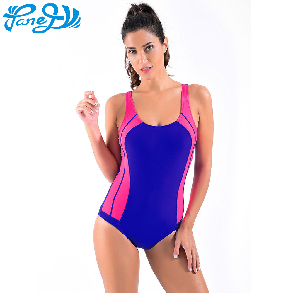 75f73252e35 Panegy Women's Training Fit Backless One Piece Swimsuit Athletic Swimwear  Sports Bodysuit Female Bathing Racing Training Suit