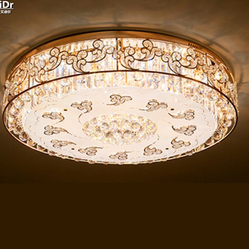 Golden Circular Living Room Bedroom Crystal Light Project LED High Power S Gold Modern Simple Lamp Ceiling Lights Lmy 072