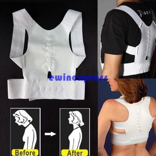 1 X Magnetic Posture Back Shoulder Corrector Support Brace Belt Unisex For Men Women