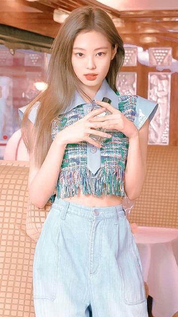 Kpop BLACKPINK Jennie ten sam frędzlami tweed T koszula kobiety streetwear kawaii koszulka koreański wiatr harajuku z krótkim rękawem tshirt