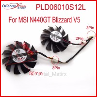 2pcs Lot POWER LOGIC PLD06010S12L 55mm MSI N440GT Blizzard V5 Graphics Card Cooling Fan 39mm X