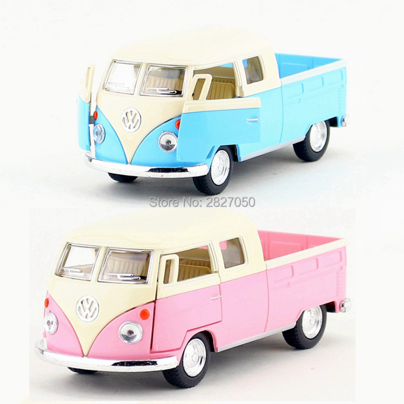 Classic Bus Toy Cars 1:34 Mini Alloy Van Model Vehicle Pull Back Doors Openable Kawaii Metal Toy Car Christmas Gift For Children