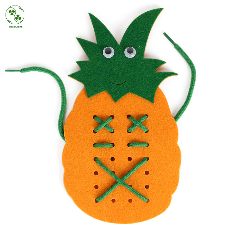 Cheap Price Rope Pineapple Children Handmade Learn To Tie Shoes Educational Toys Kids DI ...