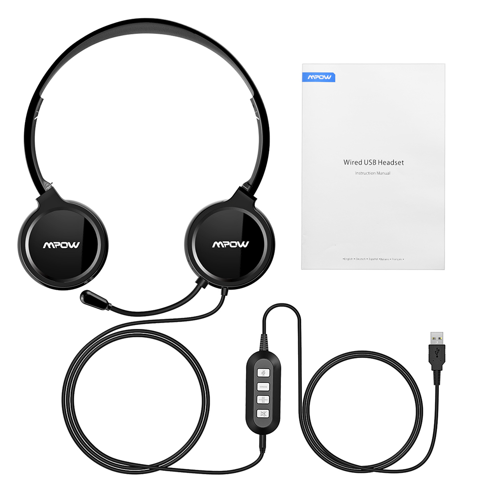 f8fe69f430a Mpow PA071 USB headphones Earphones 3.5mm Headset with Noise Reduction  Sound Card Memory Earmuffs for Skype Calls with Mac/ PC-in Headphone/Headset  from ...