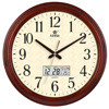 16 Inch Solid Wooden Wall Clock Silent Quartz Decorative Wall Clocks Round HD Glass Clocks Klok