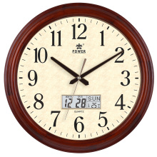 16 inch Solid Wooden Wall Clock Silent Quartz Decorative Wall Clocks Round HD Glass Clocks Klok Duvar Saati Saat Reloj Wandklok