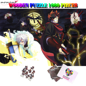 MOMEMO Anime Character 1000 Puzzle Adults Jigsaw Puzzle Wooden 1000 Pieces Relax Brain Puzzles Toys Cartoon Anime Puzzle Games