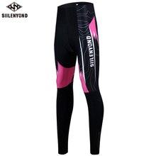 Siilenyond женские зимние штаны с 3D гелевыми вставками для велоспорта, противоударные велосипедные брюки для горного велосипеда