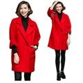 New2016 зимой шерстяные пальто женщин куртки пальто feminino повседневная горох пальто пальто 3/4 рукав пальто топы плюс размер XXXXXL 8270
